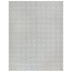 Silver Geometric All-Over Design Area Rug