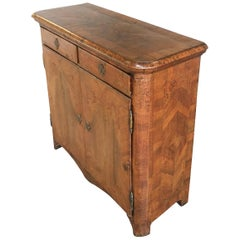 18th Century Walnut and Olive Burl Italian Cabinet