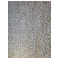 Ivory and Cream High Low Area Rug