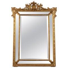 Gilt French Louis XVI Style Mirror, circa 1870s