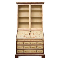 Venetian Painted Secretary Bureau Bookcase