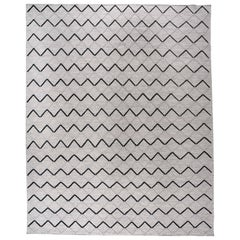 Black and White Diamonds Wool Area Rug
