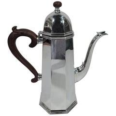 Cartier Modern Georgian Handmade Sterling Silver Coffeepot