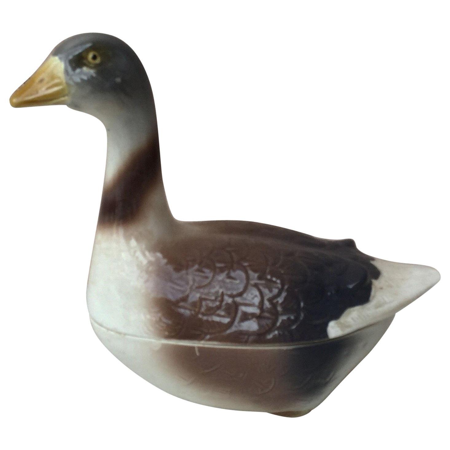 Majolica Goose Tureen, circa 1950