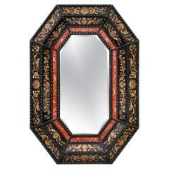 Renaissance Style Italian Eglomise Octagonal Mirror