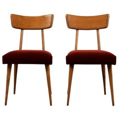 Pair of Danish Modern Side Chairs