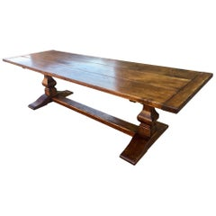 Farmhouse Table, Oak C 1930 9 feet long.