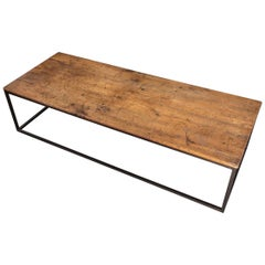 Good Cherry and Metal Mounted Coffee Table