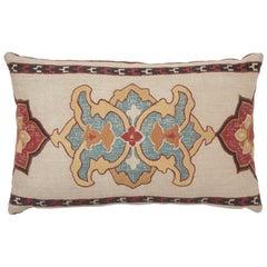 Schumacher Temara Embroidered Print Pillow in Spice