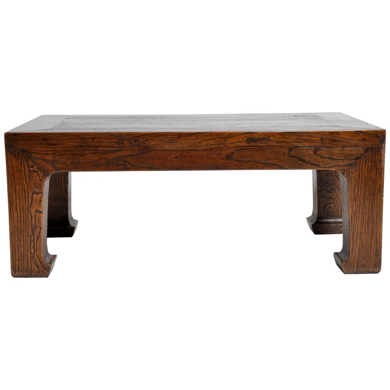 Elm Wood Coffee Table For Sale