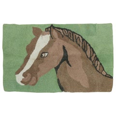 American Hooked Horse Rug