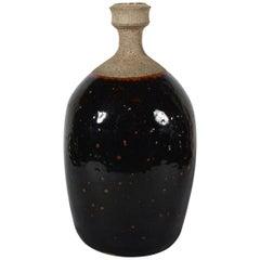 Peter Voulkos Bottle Form Stoneware Vase