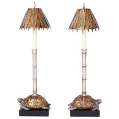Pair of Turtle Table Lamps