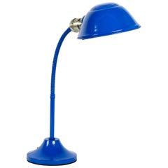 1960s Gooseneck Desk Lamp Refinished in Royal Blue