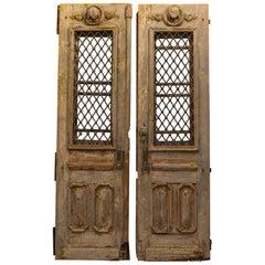 Antique 17th Century Wood and Bronze Italian Doors, circa 1600s
