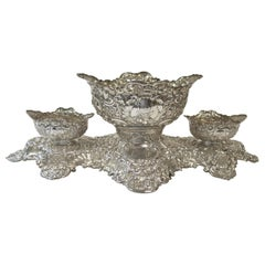Large and Decorative Antique English Sterling Silver Centerpiece, Irish Interest