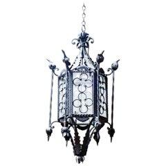 Gothic Quatrefoil Motif Hanging Lantern