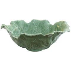 Large-Scaled American Rookwood Art Pottery Celadon Glazed Cabbage-Leaf Bowl