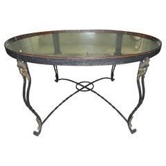 19th Century French Iron and Copper Table