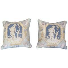 Vintage Linen Panel Pillows