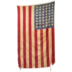 Antique Large American Flag with 48 Stars, circa Pre 1940s