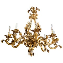 French Bronze Chandelier, circa 1890