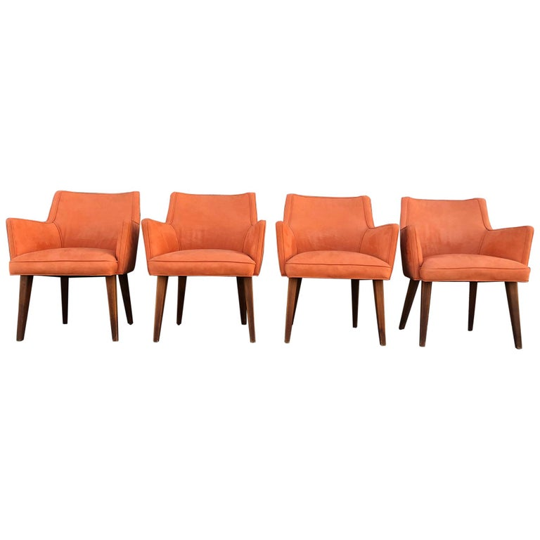 Set of 4 Mid-Century Modern Dining Chairs For Sale