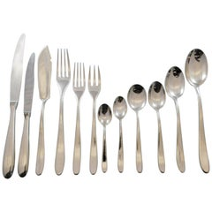 Winterset by Buccellati Italy Sterling Silver Flatware Set Service 388pc Dinner