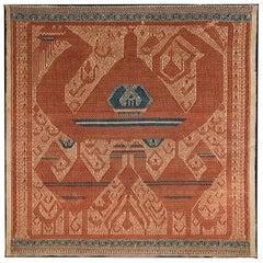 Early 20th Century Ceremonial Cloth 'Tampan', Lampung, South Sumatra, Indonesia