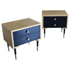 Pair of Cork Nightstands by Paul Frankl for Johnson Furniture Co, circa 1950
