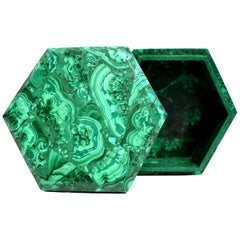 Malachite Box, Large, 2.76 lb, Natural Gemstone