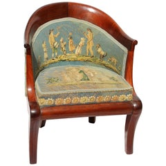 Early 19th Century Directoire Child's Chair with Aubusson Needlepoint Fabric