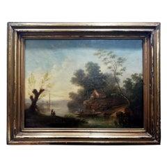 Jean-Victor Bertin French Neoclassical Italianate Landscape with River
