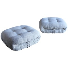Soriana Ottomans by Afra & Tobia Scarpa for Cassina