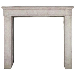 17th Century Small Rustic French Antique Fireplace Surround in Stone