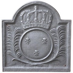 French Louis XIV Style Fireback with the Coat of Arms of France