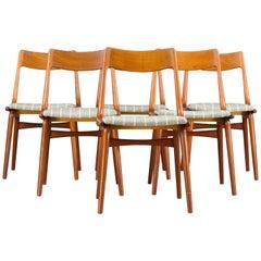 Boomerang Chairs #370 by Erik Christiansen for Slagelse Møbelvaerk, Set of 6