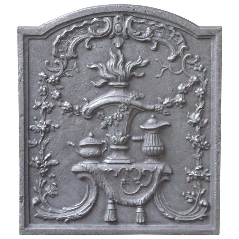 Victorian 'Fire Pot' Fireback For Sale