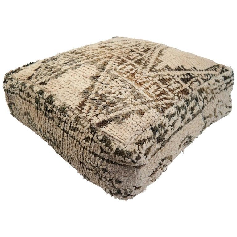 Moroccan Pouf Natural Floor Cushion Morocco Ottoman For Sale