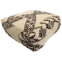 Pouf from Morocco Natural Floor Cushion Moroccan Ottoman