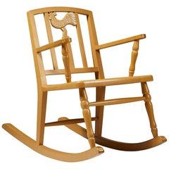 Children's Rocking Chair by Carl Hörvik for Nordiska Kompaniet, Sweden, 1923