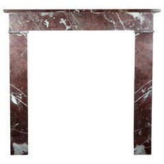 19th Century Belgian Marble Inexpensive Vintage Fireplace Surround