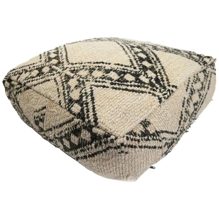 Enjoyable Moroccan Pouf Natural Floor Cushion Morocco Ottoman Lamtechconsult Wood Chair Design Ideas Lamtechconsultcom