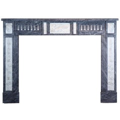 18th Century Fine European Antique Fireplace Surround in Marble from Bruges