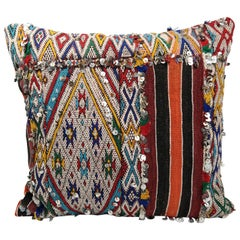 Moroccan Kilim Pillow Morocco Colord Cushion