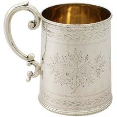 Antique Victorian English Sterling Silver Christening Mug