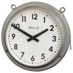 Double Sided Station Clock by Brille, circa 1940s
