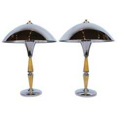Pair of Art Deco Dome Lamps