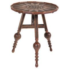 Dutch Renaissance Revival Tilt-Top Flap a/d Wand Table, 1900s