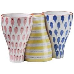 Reversible Ceramic Vessel/Candleholder by Stig Lindberg for Gustavsberg, Sweden